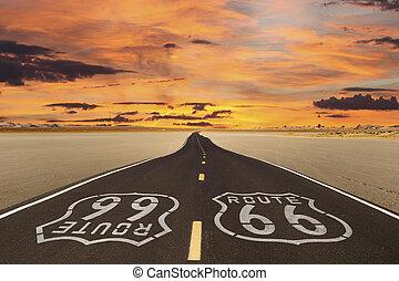 Route 66 Romanticized - Romanticized rendition of Route 66...