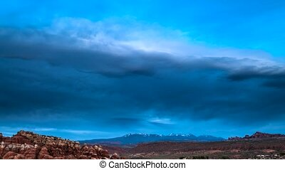 Utah Landscape Time-lapse - Clouds moving over the Arches...