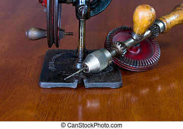 Vintage Manual Driven Scroll Saw - Vintage Manual Hand or...