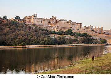 Amer Fort in Jaipur - Ancient Amer Fort in Jaipur,...