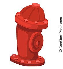 Hydrant - Cartoon hydrant on a white background