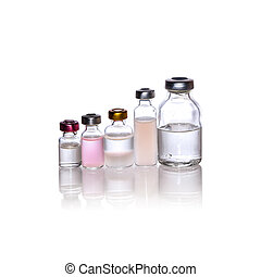 Medication vials ampule many size isolation whit clipping...