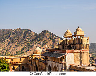 View at Amer Fort in Rajasthan, India