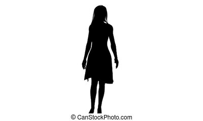 silhouette of woman dancing