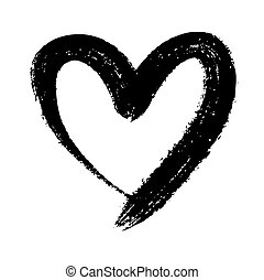 doodle heart - doodle hand drawn heart shaped on white...