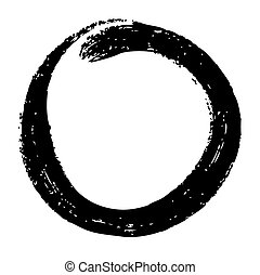 doodle circle - abstract circle hand draw by crayon use for...