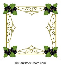 Frame with berry currant