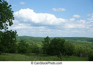 Missouri Landscape - A beautiful summer landscape in rural...