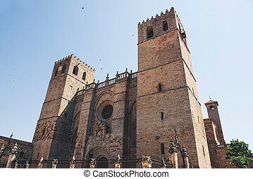 Siguenza Cathedral, Guadalajara - Panoramic view of...
