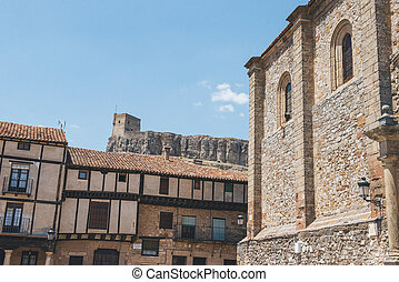 Castle of Atienza, Guadalajara - Distant view of the castle...