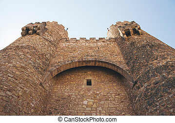 Castle of Siguenza, Guadalajara - Main facade of the castle...