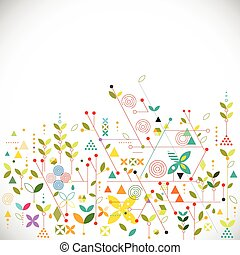Abstract geometric template go green concept for corporate...