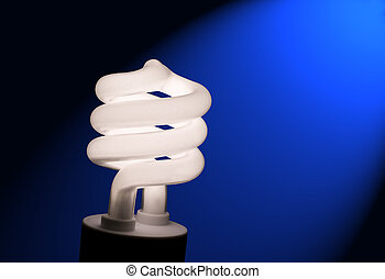Compact Fluorescent Light Bulb - Close up photo of a compact...