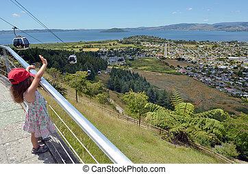 Skyline Gondola Cableway in Rotorua - New Zealand - ROTORUA,...