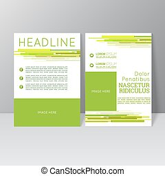 Vector brochure template design with dynamic lines and flow,...