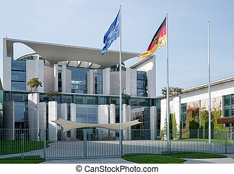 The Federal Chancellery building offical residence of the...