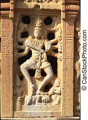 Plaque of Dancing Nataraja - Stone statue of Nataraja in...