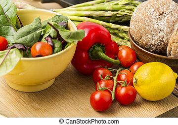 Delicious fresh vegetables for dinner