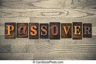 madeira,  passover, conceito,  Letterpress