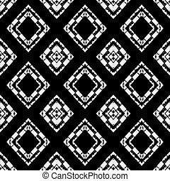 Black and White Abstract Geometric Pattern