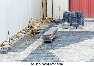 Garage driveway paving stones - Detail, embarrassed of...