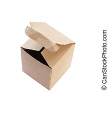 Cardboard box isolate on white background (with clipping path)