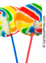 Lolly Pops isolated against a white background