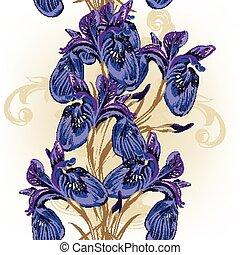Floral seamless wallpaper pattern w