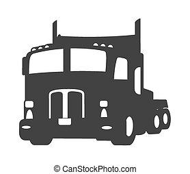 Transport Truck Vector Shape - Retro Transport Truck Vector...