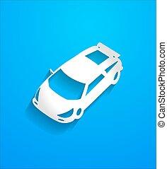 Modern Sports Car Vector Shape