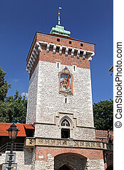Historical building in city Cracow, Poland - Historical...