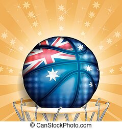 Australian basket ball, vector