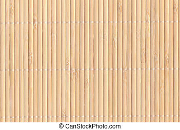 Bamboo mat background - light brown