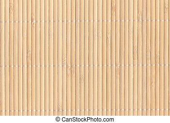 Bamboo mat background - light brown