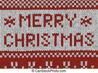 Norwegian pattern - Merry Christmas - Christmas Vector