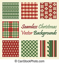 seamless christmas vector backgrounds
