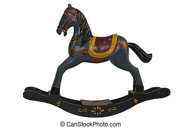 pesebres, caballo, azul,