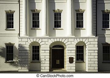 storico, dettaglio, palazzo di giustizia
