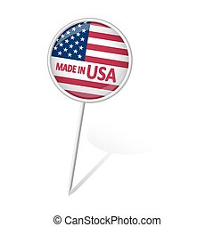Pin round - MADE IN USA