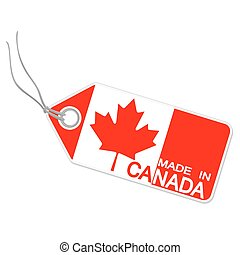 hangtag with MADE IN CANADA