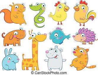 Animals - Vector illustration of cartoon animals ,cute...