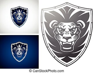 Lion on a Shield - This design suitable for any company or...