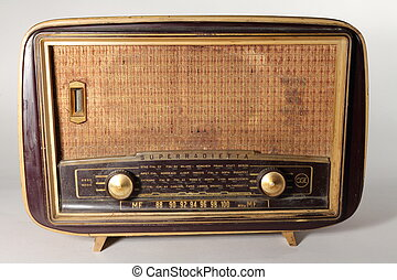 Old radio - Very old radio from 50s