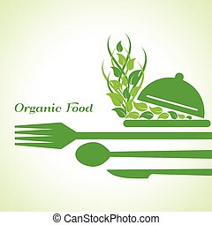 organic food label design concept