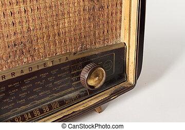 viejo, radio,