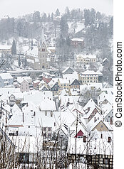 The town of Kulmbach in Franconia, Germany