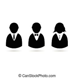 bussines people icon vector silhouette