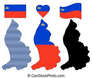 map of Liechtenstein - Lichtenstein map and of different...