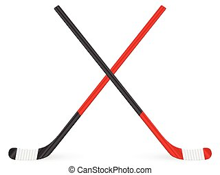 hockey stick - Hockey stick on a white background.