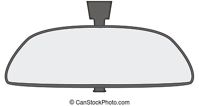 Rear View Mirror - A car rear view mirror isolated on a...
